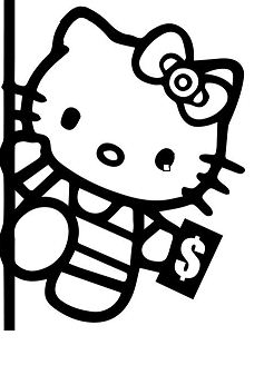 Hello Kitty Pole Dancing