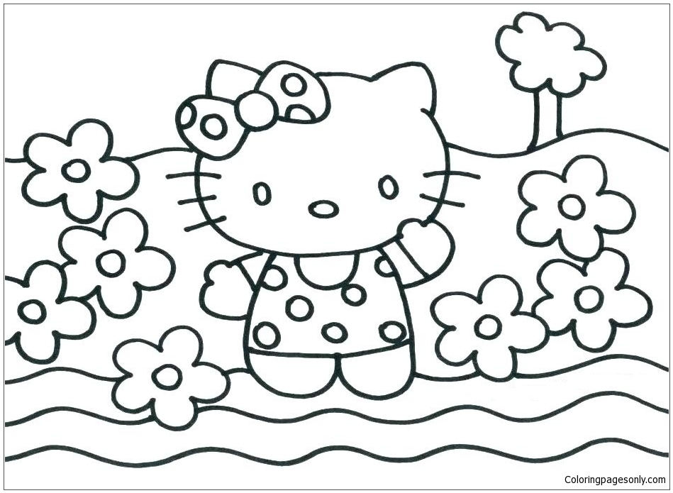 Hello Kitty Princess 1 Coloring Page Free Coloring Pages Online
