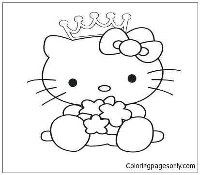 Hello Kitty Princess 3 Coloring Page - Free Coloring Pages Online