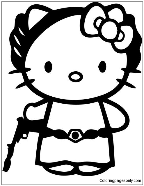 Hello Kitty Princess Leia Coloring Pages