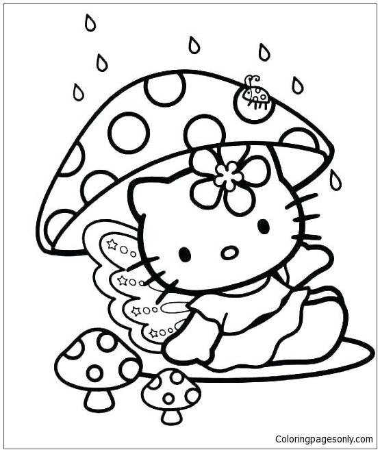 Hello Kitty Princess Coloring Page Free Coloring Pages Online