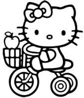 Hello Kitty Riding Cycle