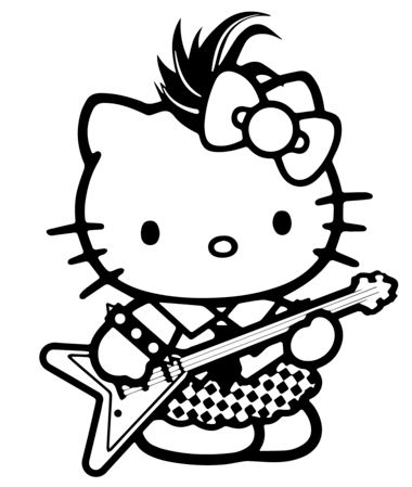 Hello Kitty Rockstar