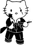 Hello Kitty Scarface Coloring Page