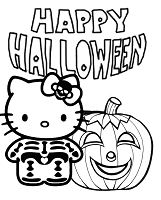 Hello Kitty Skeleton And Pumpkin Halloween