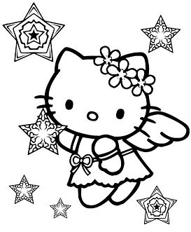 Hello Kitty Snow Angel Christmas