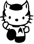 Hello Kitty Star Trek Coloring Page