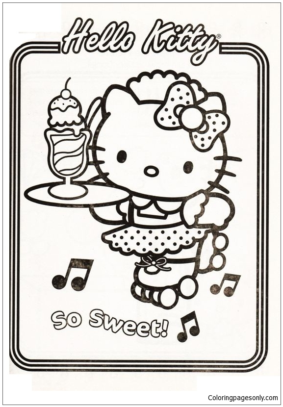Hello Kitty Sweet Coloring Pages