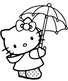 Hello Kitty Under The Umbrella