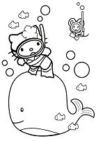 Hello Kitty With A Whale