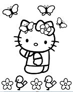 Hello Kitty with butterflies