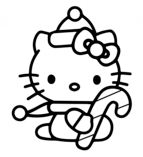 Hello Kitty With Christmas Candy Cane