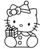 Hello Kitty With Christmas Gift Box