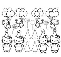 Hello Kitty With Christmas Kit Coloring Page