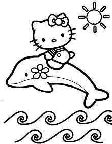 Hello Kitty with Dolphin