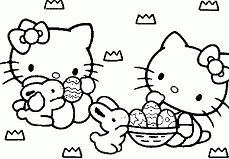 Hello Kitty with Easter Eggs
