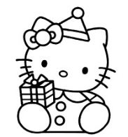 Hello Kitty With Gift Box
