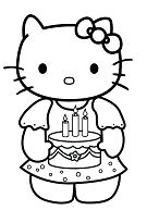 Hello Kitty With Her Birthday Cake