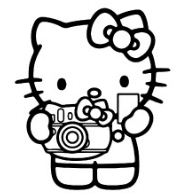 Hello Kitty With Her Camera