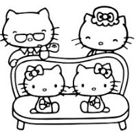 Hello Kitty With Her Family