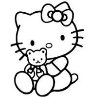 Hello Kitty With Her Teddy Bear