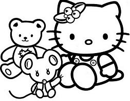 Hello Kitty With Her Toys