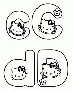 Hello Kitty with letter C and D