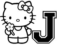 Hello Kitty With Letter J