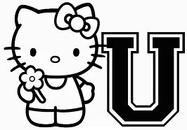 Hello Kitty With Letter U