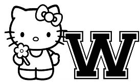 Hello Kitty With Letter W
