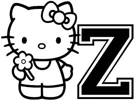 Hello Kitty With Letter Z