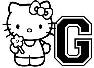 Hello Kitty With Letters G