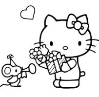 Hello Kitty With Mouse