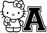 Hello Kitty With The Alphabet A