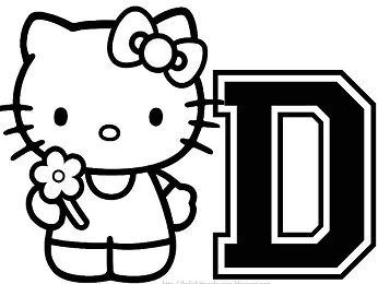 Hello Kitty With The Alphabet D