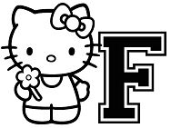 Hello Kitty With The Alphabet F