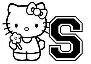 Hello Kitty With The Alphabet S