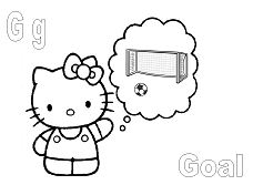 Hello Kitty with the letter G is for Goal