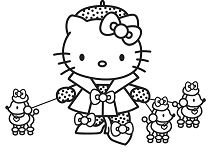 Hello Kitty with toys