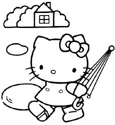 Hello Kitty With Umbrella 1