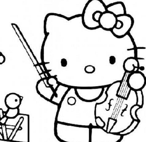 Hello Kitty With Violin