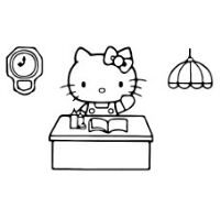 Hello Kitty Working In The Office