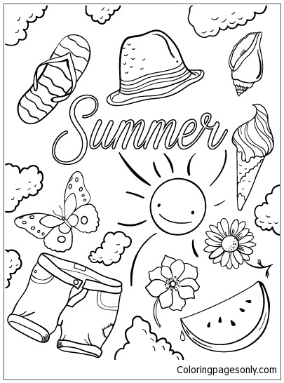 Hello Summer Coloring Pages - Nature & Seasons Coloring ...