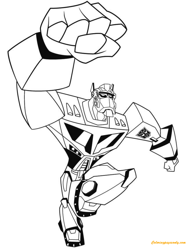 Hero Transformers Optimus Prime Coloring Page Free Coloring