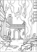 Batman Is Hiding  from Batman Coloring Page
