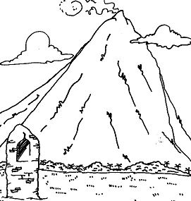 High Mountains Coloring Page