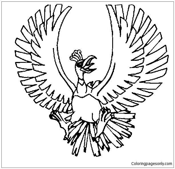 Ho-Oh Coloring Page