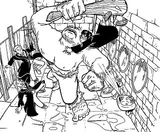 Hogwarts Cave Troll Coloring Page