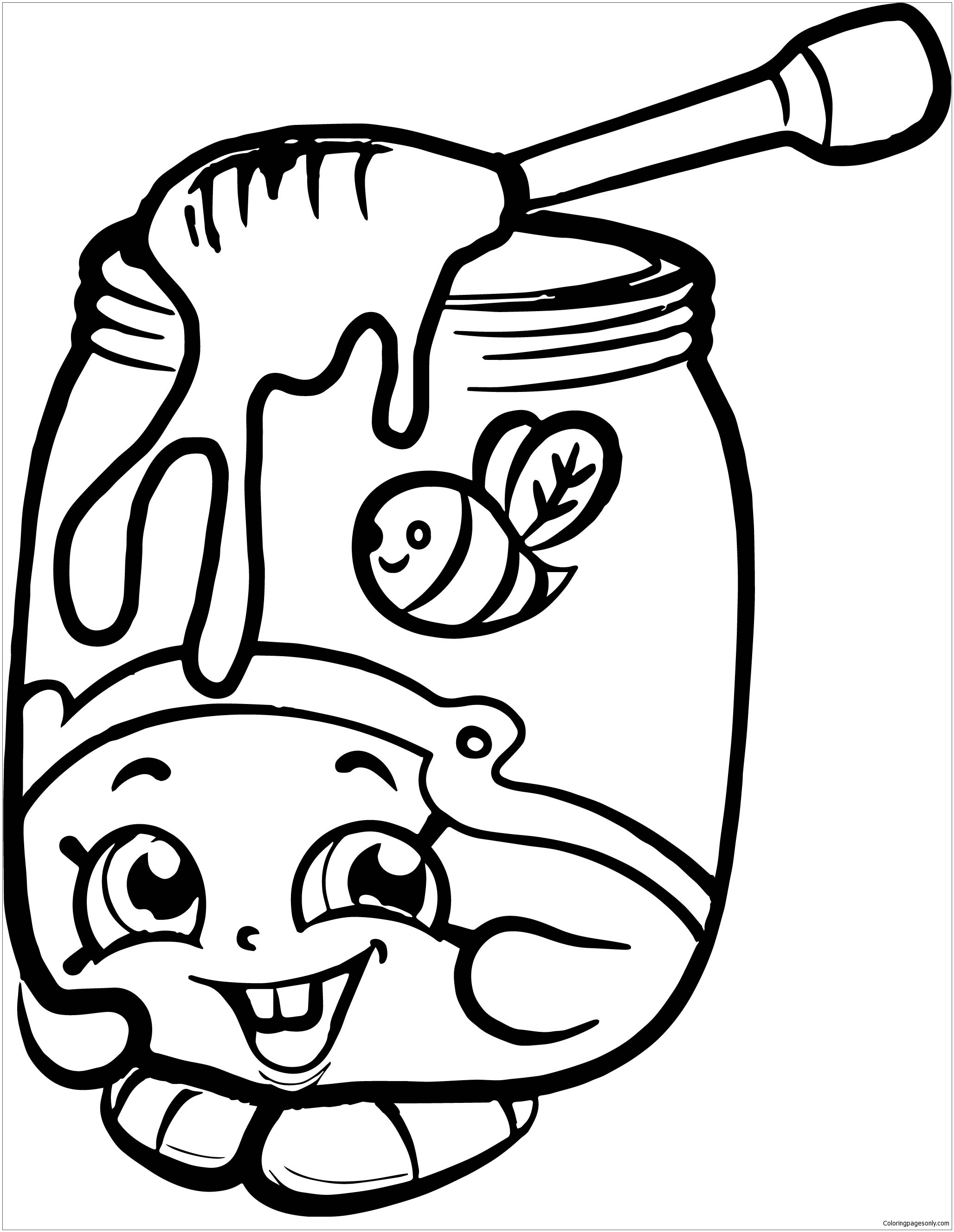 Shopkins coloring pages wishes - Honeeey Shopkins Season 2 Coloring Page