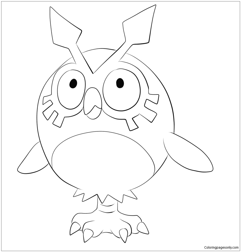 Pokemon Magnemite Kleurplaat Hoothoot Pokemon Coloring Page Free Coloring Pages Online